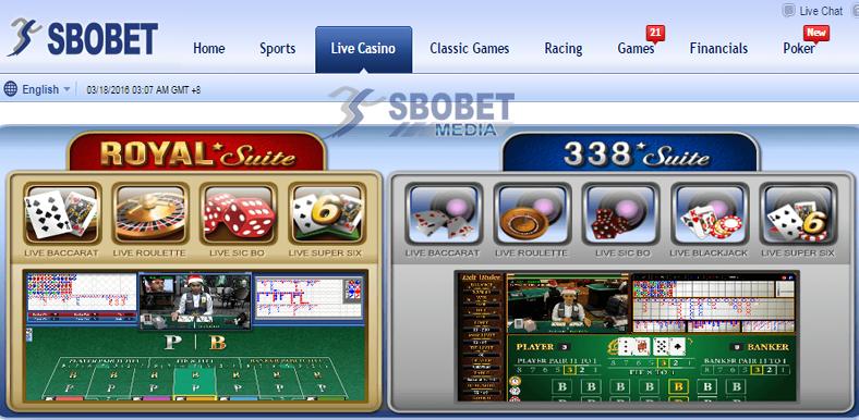 Sbobet Casino menyediakan Royal Suite dan 338a Suite