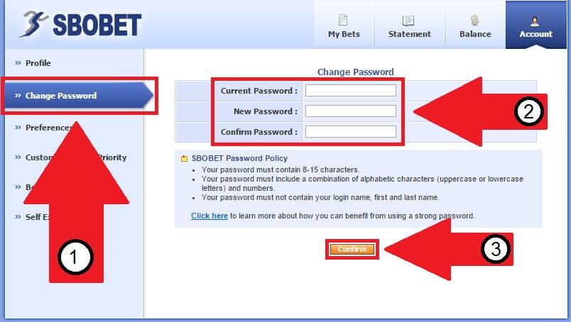 Panduan Cara Mengganti Password Sbobet-2
