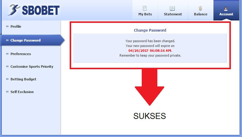 Panduan Cara Mengganti Password Sbobet-3